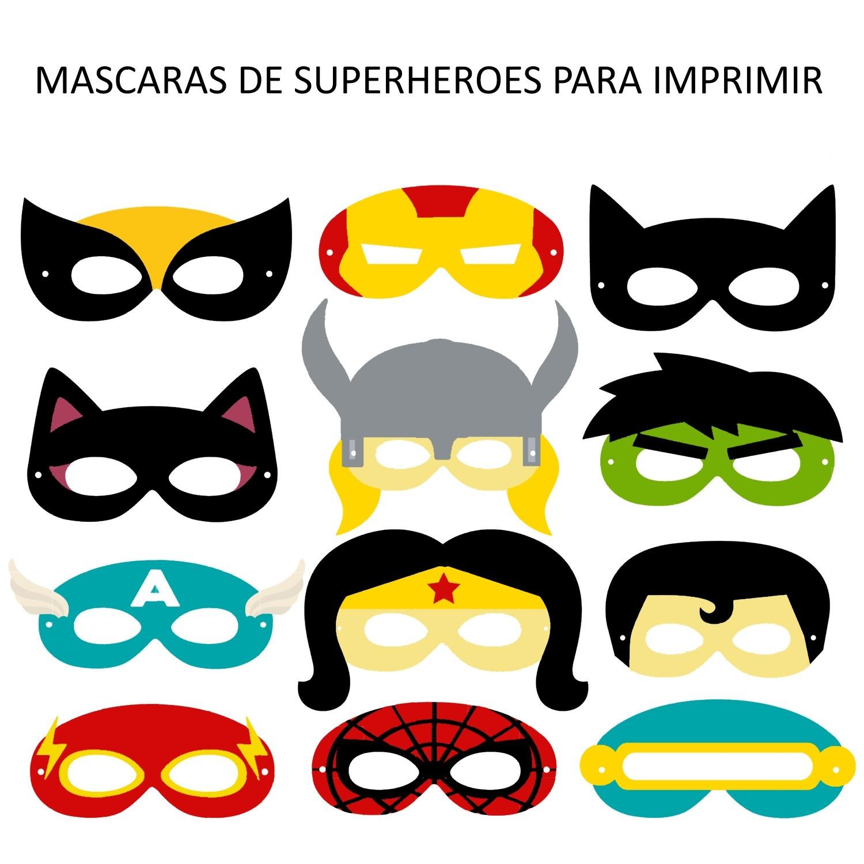 Mascaras y antifaces de superhéroes para imprimir ...