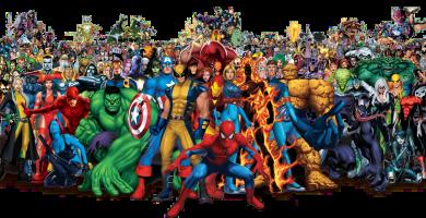 todos los superhéroes de Marvel Comics
