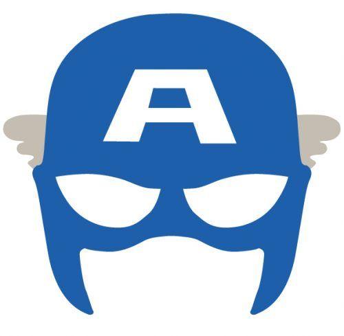 mascara de capitan america azul para imprimir