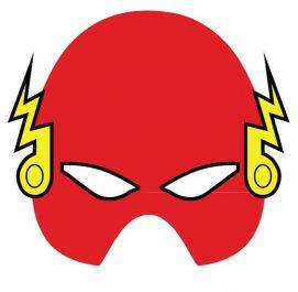 mascara de flash roja para imprimir