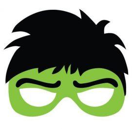 mascara de Hulk verde para imprimir