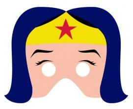 mascara de mujer maravilla para imprimir