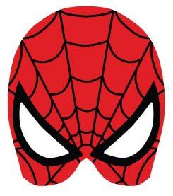 mascara de spiderman roja para imprimir