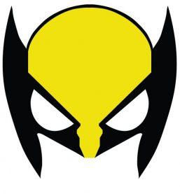 mascara de wolverine amarilla para imprimir