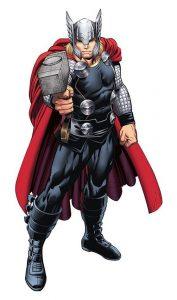 thor con su armadura y el fondo blanco superhéroes mas poderosos de Marvel