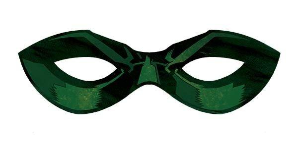 antifaz de robin para imprimir verde
