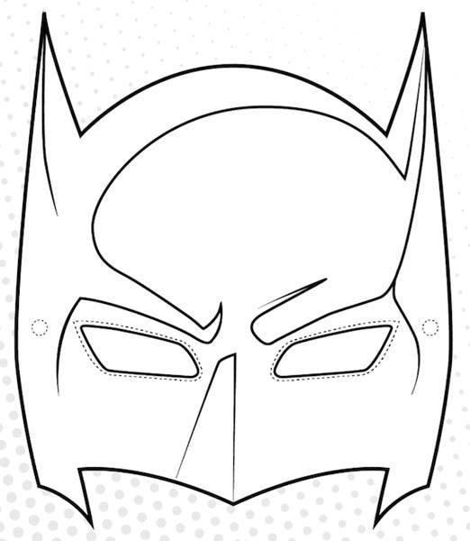 mascara de batman para colorear