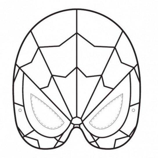 mascara de spiderman para colorear