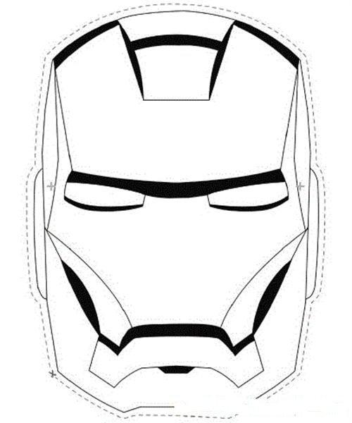 mascara de iron man para colorear